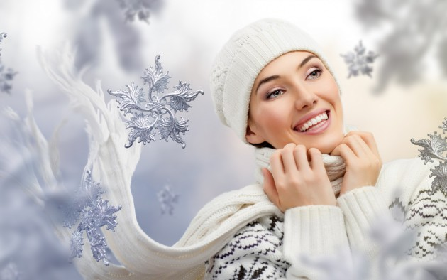 дівчина зима обличчя