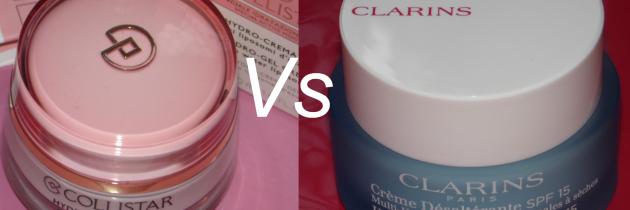 Змагання за максимальне зволоження Clarins HydraQuench Cream SPF15 та Collistar Hydro Gel Cream Normal Dry Skin